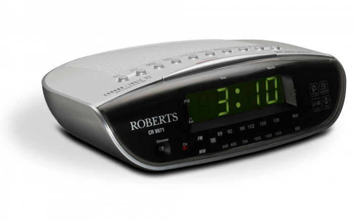 Roberts FM/MW Clock Radio Chronologic VI (CR9971) - Radio Alarm Clocks - GardeniaHomecentre