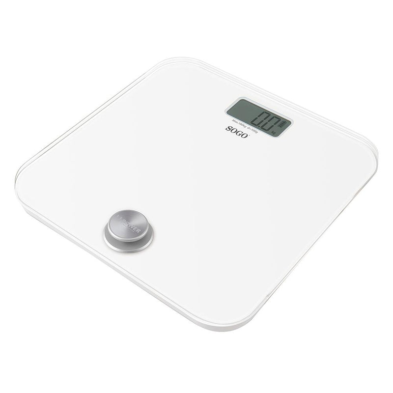 Sogo White Battery- Free Bathroom  Scale 180kgs - Small Appliances - GardeniaHomecentre