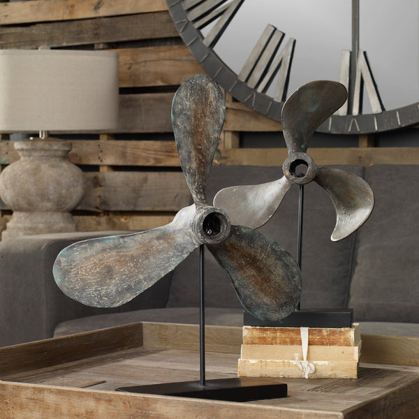 Uttermost Propellers Rust Sculptures, S/2