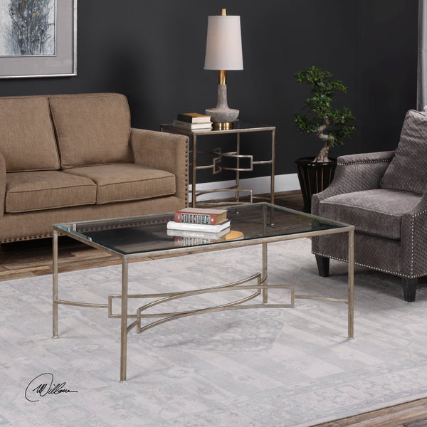 Uttermost Eilinora Silver Coffee Table