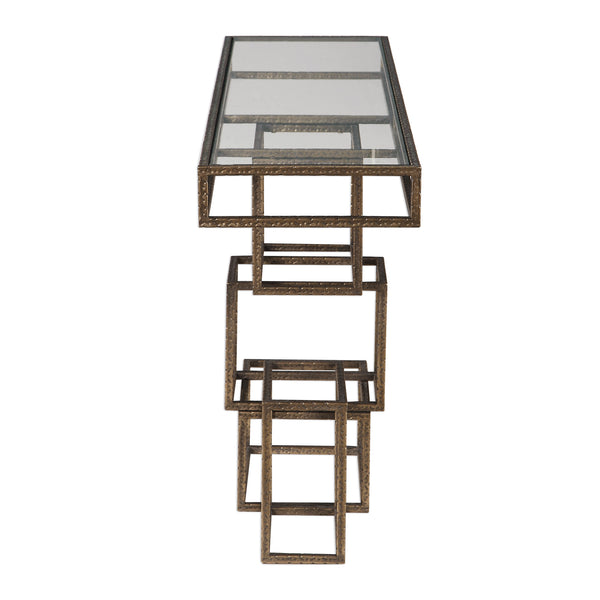 Uttermost Ruslan Bronze Console Table