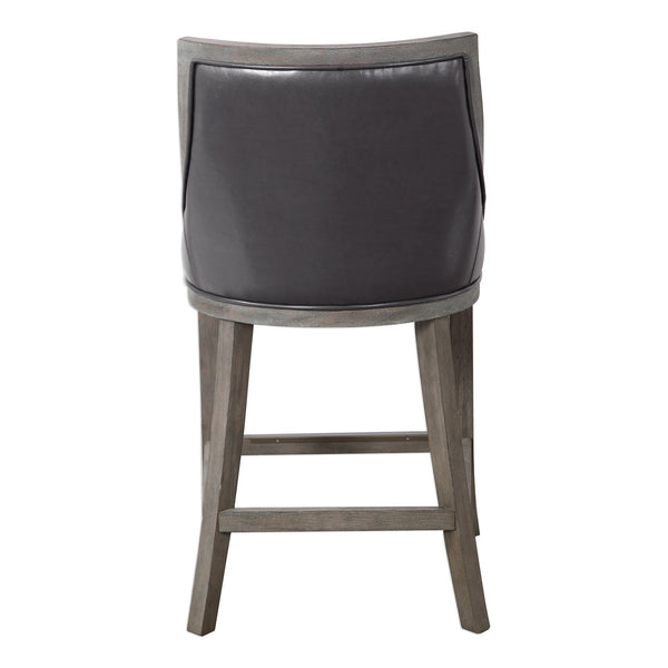 Uttermost Elowen Leather Counter Stool