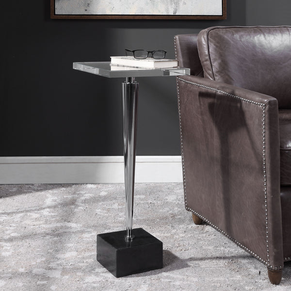 Uttermost Campeiro Nickel Drink Table