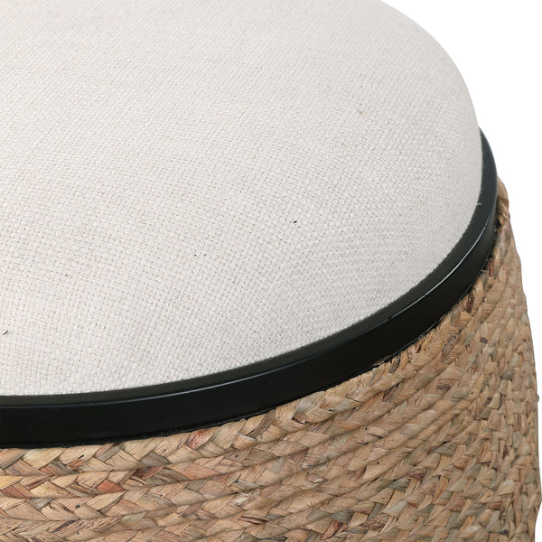 Uttermost Island Straw Accent Stool
