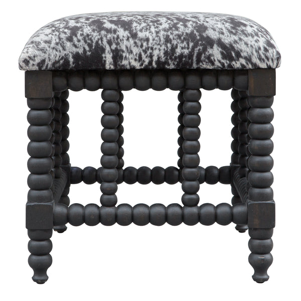 Uttermost Rancho Faux Cow Hide Small Bench