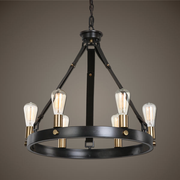 Uttermost Marlow 6 Light Antique Bronze Chandelier