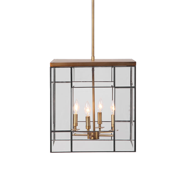 Uttermost Romilly 4 Light Antique Brass Pendant