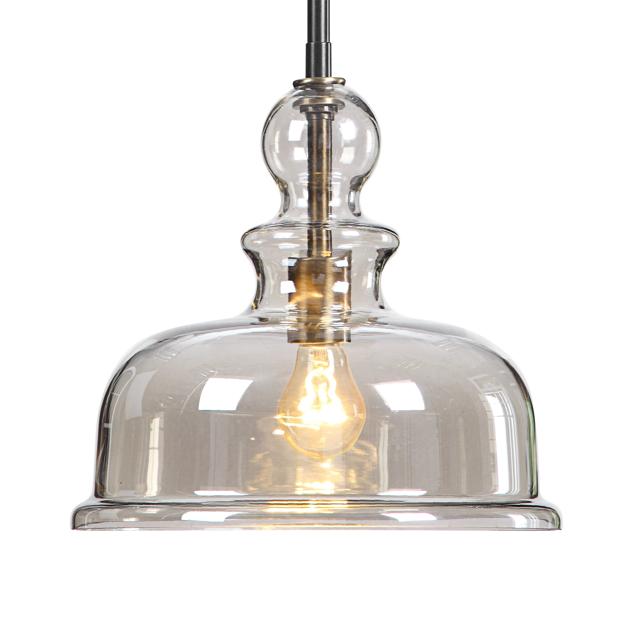 Uttermost Eaton 1 Light Glass Pendant