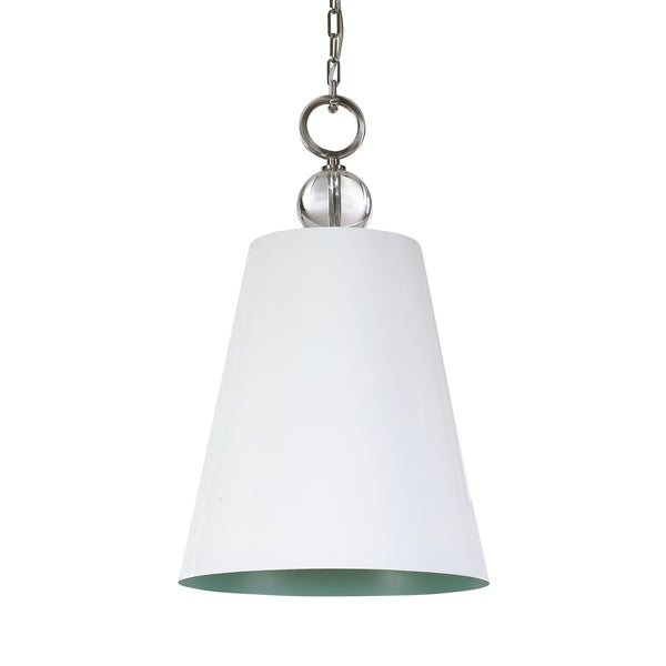 Uttermost Delray White 1 Light Pendant