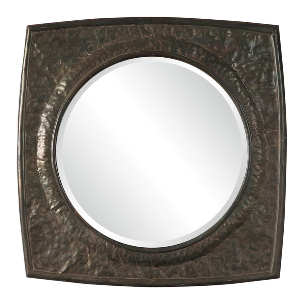 Uttermost Hadeon Hammered Iron Mirror