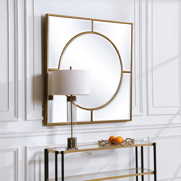 Uttermost Stanford Gold Square Mirror