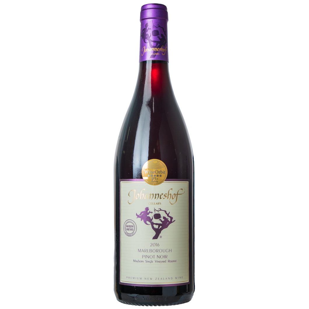 Johanneshof 2016 Pinot Noir Maybern Single Vineyard Reserve From Johanneshof Cellars Marlborough