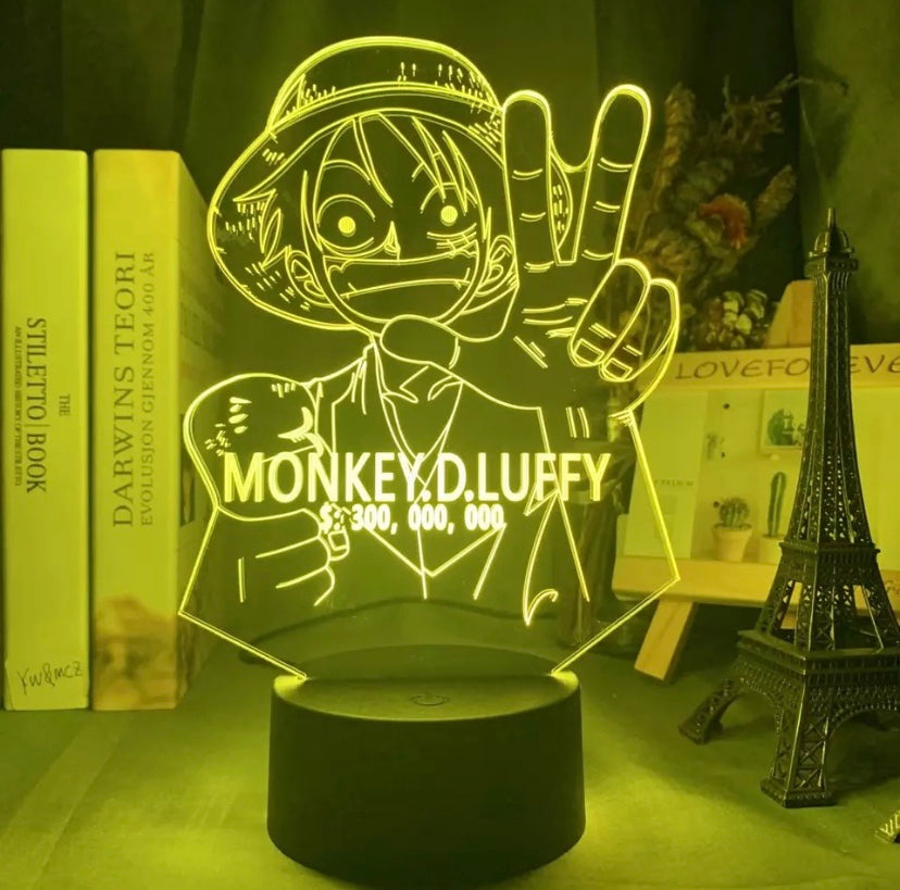 Wanted Luffy Bounty LED Lamp