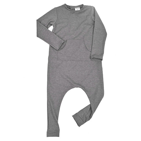 kids romper - grey melange