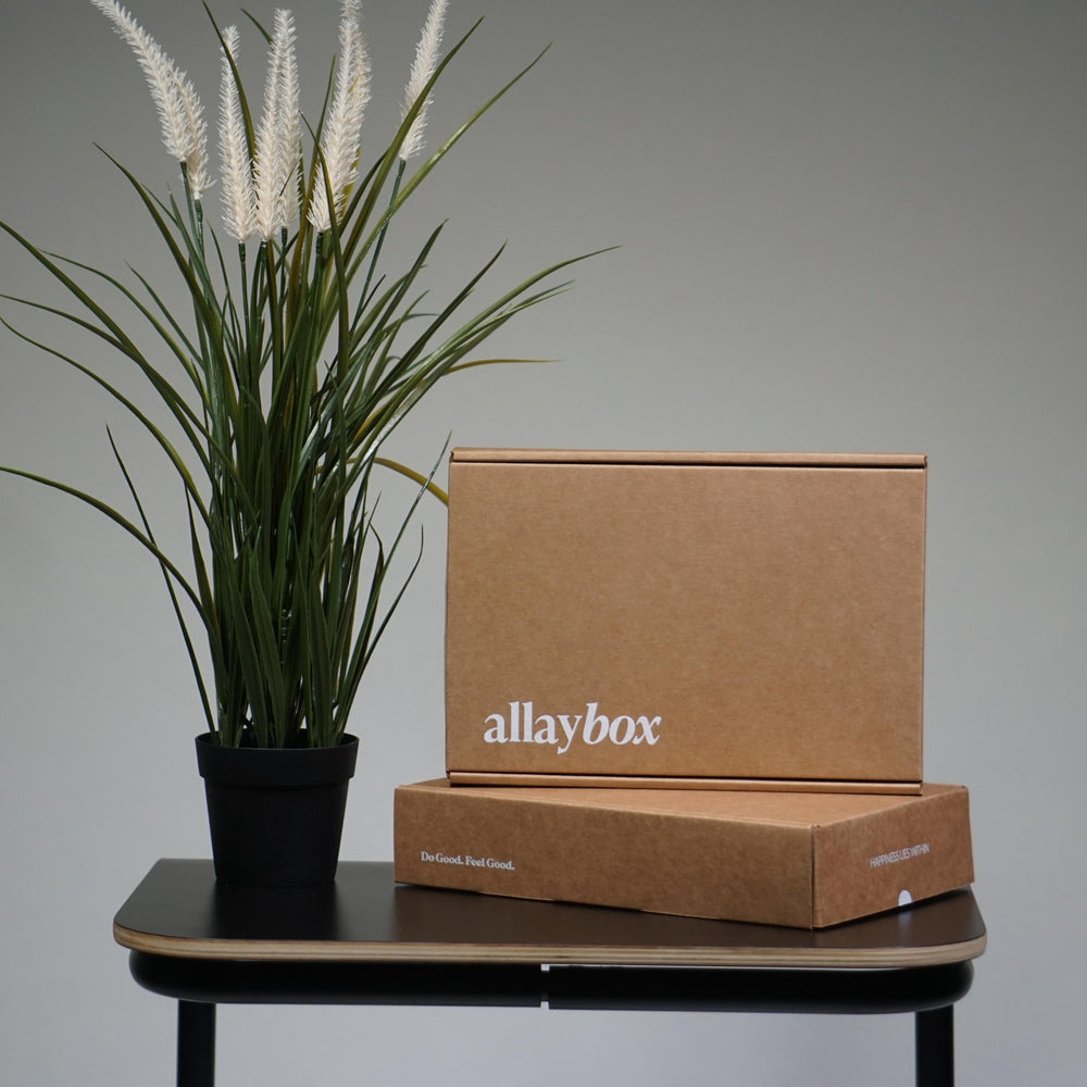 allaybox sample box cbd samples subscription box boutique medterra soothe potli hugs wellness tonic vibes cbd