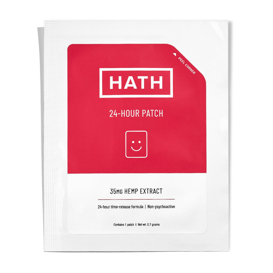 HATH CBD Transdermal Patch 24-Hour hemp extract red and white AllayBox CBD subscription box boutique