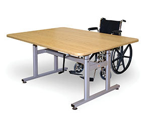 HAUSMANN INDUSTRIES CRANK HEIGHT HI-LO WORK TABLES