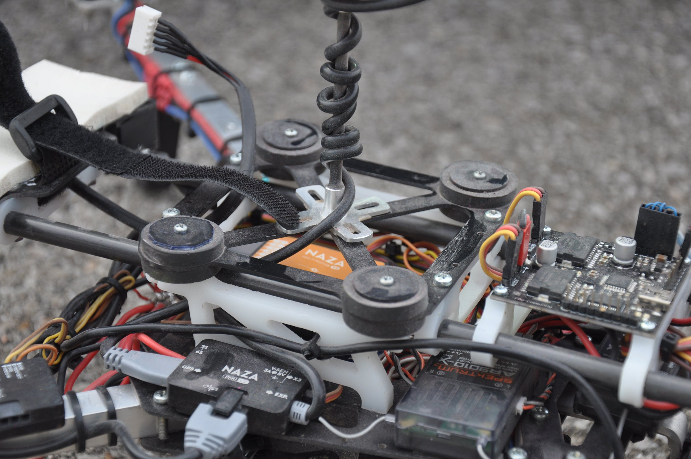 Isolating the camera and GPS of a quadcopter