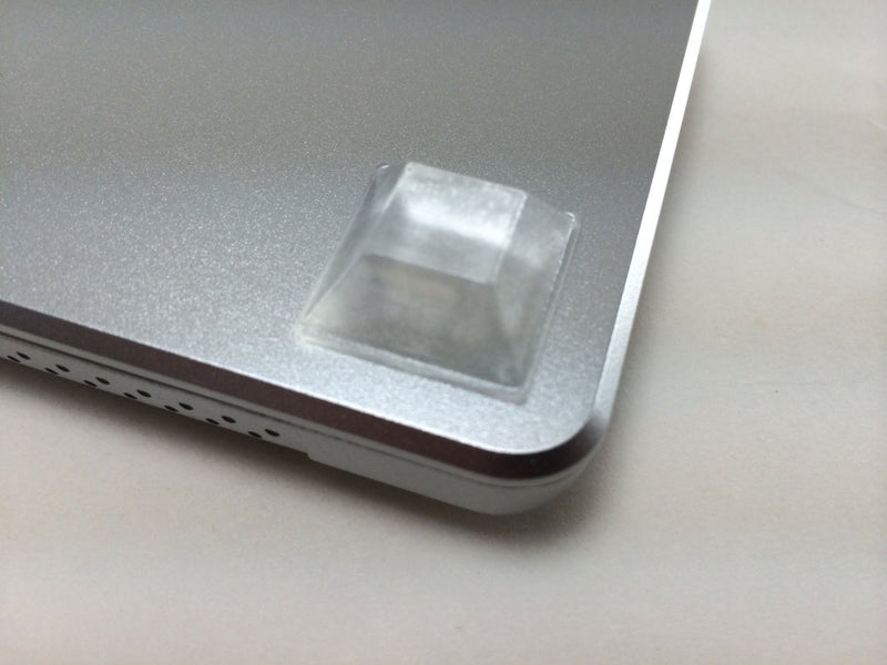 "Square Clear 0.810"" (20.6mm) W x 0.300"" (7.6mm) H Cabinet and Furniture Bumpers"