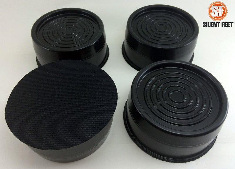 Silent Feet Anti-Vibration Riser for Beds - Superior All Surface Vibration Barrier - 4 Pack