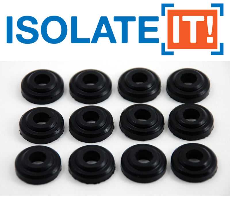 "Sorbothane Vibration Isolation Bushing (.28""ID-.72""OD-.22""Thick) - 12 Pack"