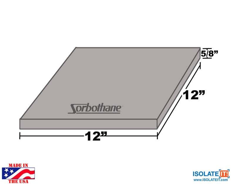 Sorbothane Vibration Damping Sheet Stock (12 x12in)