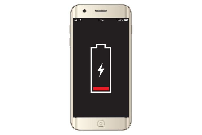 Phone Battery Showing Low Power