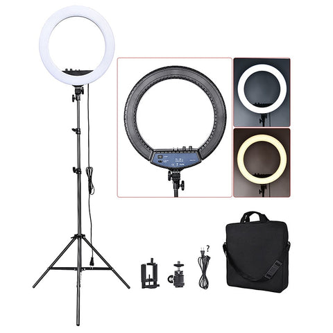 LED Soft Ring Light ii 46 cm 55W + mirror, tripod, bag