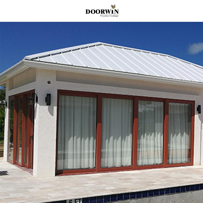 Doorwin Project Of Wood Aluminum Four Panels Lift & Slide Doors