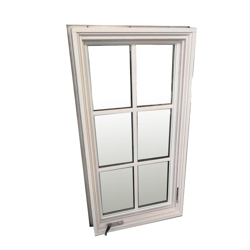 DOORWIN 2021Factory direct selling windows wood vs pvc window treatments white for framed