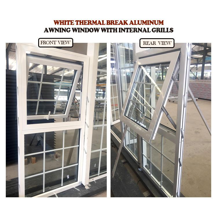 DOORWIN 2021Factory wholesale aluminium awning window design style triple glazed windows opening