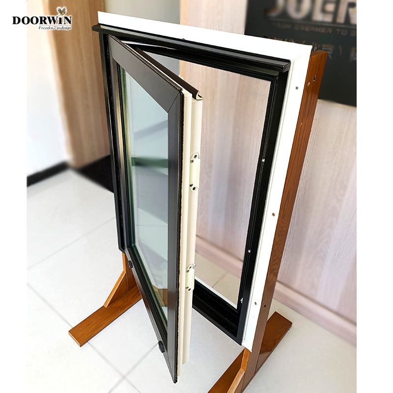 Doorwin 2021China window manufacturers tempered double glass sound proof pvc upvc casement crank windows