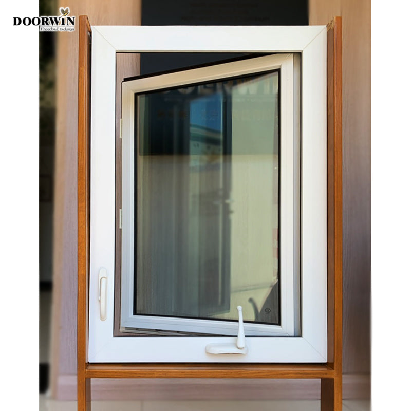 Doorwin 202115 days lead time China Manufactures best selling Cheap UPVC Windows and Doors PVC crank handle opening windows and doors