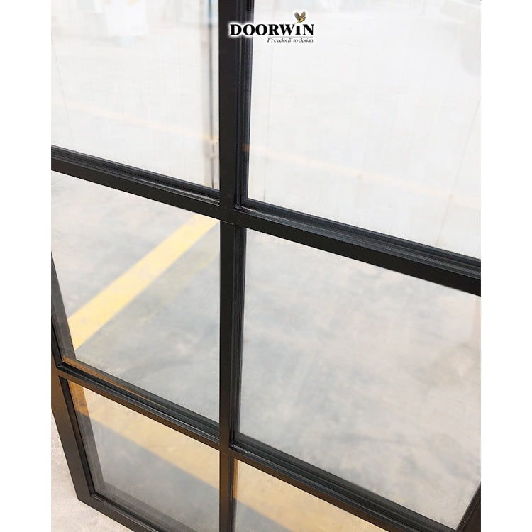 Doorwin 2021Beautiful Grill Design Pictures Powder Coating Extruded Aluminium Frame 30X30 30X60 60X48 Window