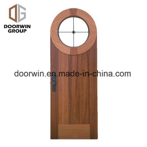 DOORWIN 2021Solid Wood Specialty Shape Entry Door - China Lowes French Doors Exterior, Safety Door Grill