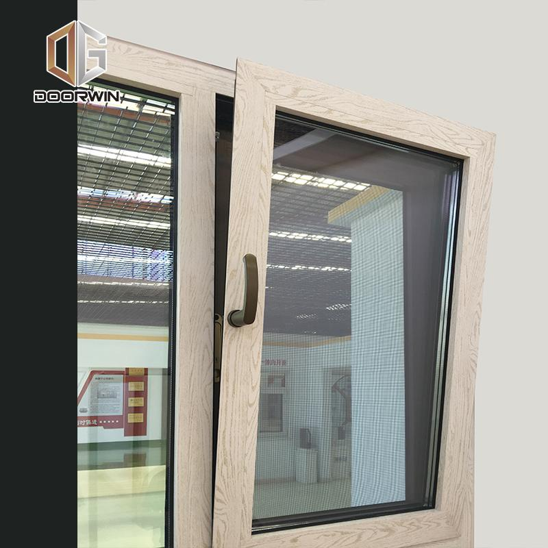 DOORWIN 2021Wood grain finish aluminum window windows tilt turn by Doorwin on Alibaba