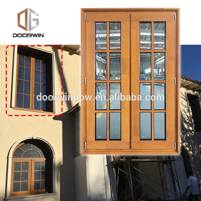 Doorwin 2021arch window grill design pine door window arched top office glass window by Doorwin