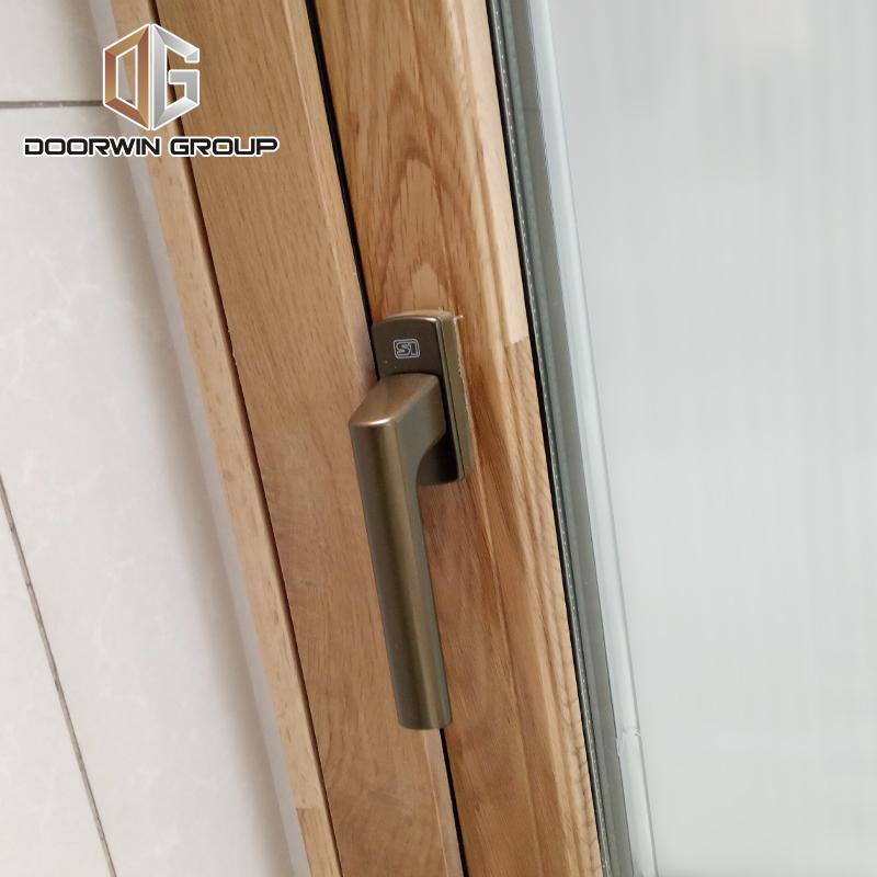 DOORWIN 2021oak wood clad aluminum push out casement window