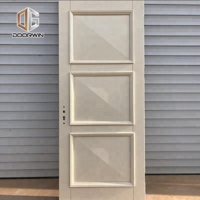 DOORWIN 2021wood veneer MDF board flat panel dressing study room door cheap wooden interior doorsby Doorwin
