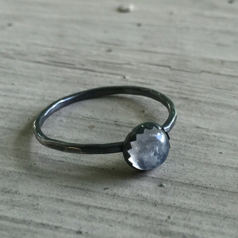 rainbow moonstone stacking ring