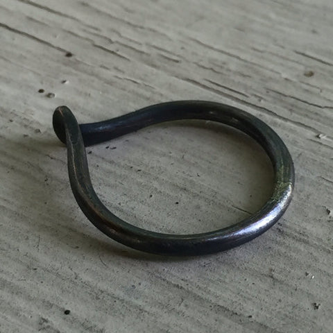 Viking Inspired Forged Ring in Copper