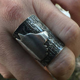 viking wolf ring