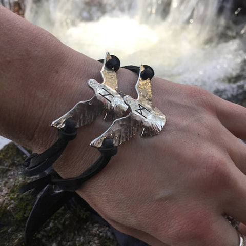 huginn and muninn bracelets