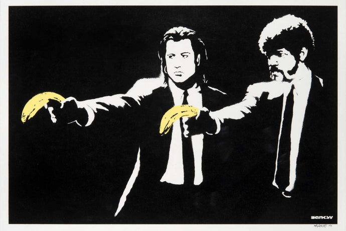 Banksy's 'Pulp Fiction' Print Fetches Over $100,000 USD At Auction