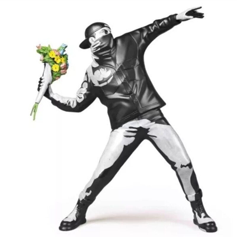 Banksy Flower Bomber Sculpture