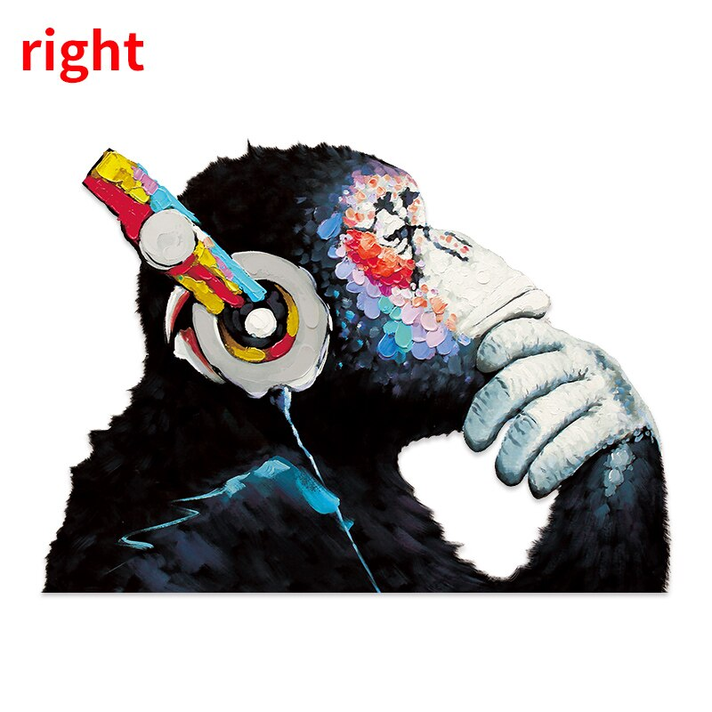 Banksy Graffiti DJ Monkey Headphones Wall Stickers