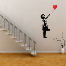 Load image into Gallery viewer, Banksy Wall Decal, Balloon Girl Inspired
