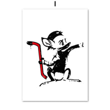 Load image into Gallery viewer, Banksy Graffiti Funny Minimalist Abstract Nordic Posters