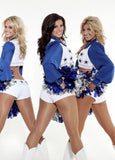 Womens Dallas Cowboys Cheerleader Halloween Costume Blue