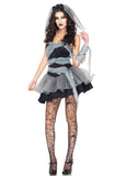 Spooky Adult Zombie Bride Halloween Costume